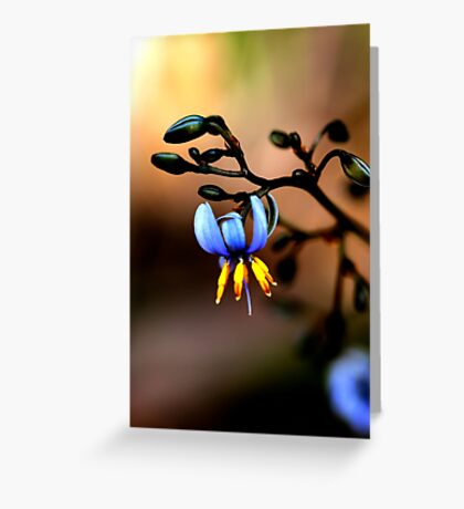 Watercolour In Blue  Greeting Card