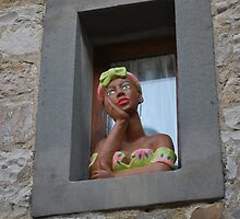 Eccentric Windowsill Decoration by Helen Greenwood