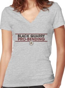 Boarcupines Practicewear Women's Fitted V-Neck T-Shirt