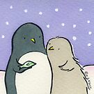 Baby Penguin loves Fish by zoel