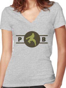 Mongoose Lizards Pro-Bending League Gear Women's Fitted V-Neck T-Shirt
