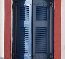 Red White and Blue Window by phil decocco