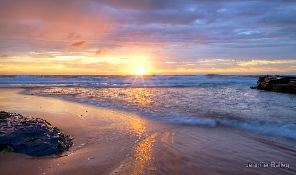 Turimetta Beach Sunrise  by Jennifer Bailey