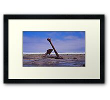 Old Boat anchor, Wreck Beach, Great Ocean road Framed Print