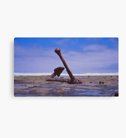 Old Boat anchor, Wreck Beach, Great Ocean road Canvas Print