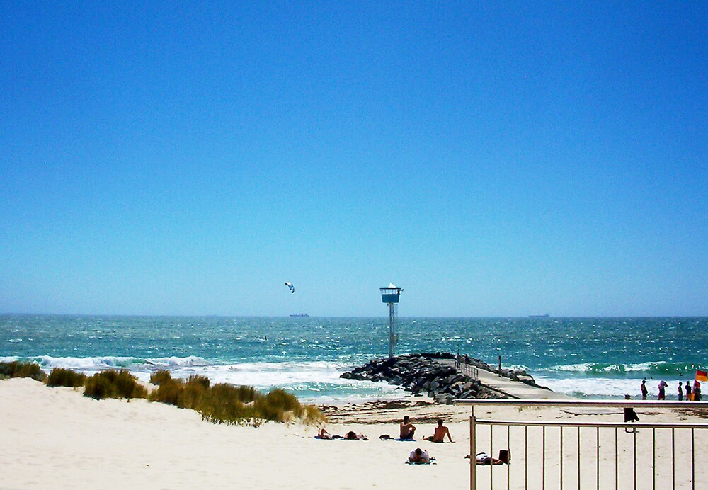 Windsurfer At City Beach 08 12 12 by Robert Phillips