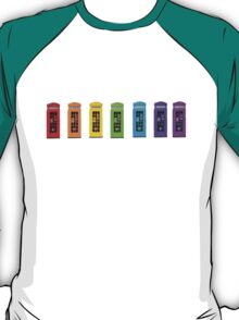 Rainbow Phone boxes  T-Shirt