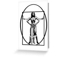 Vitruvian Woman Greeting Card