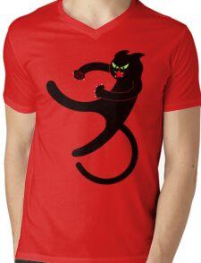 NINJA CAT 3 Mens V-Neck T-Shirt