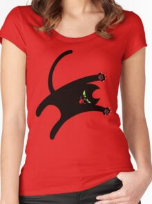 NINJA CAT 1 Women's Fitted Scoop T-Shirt