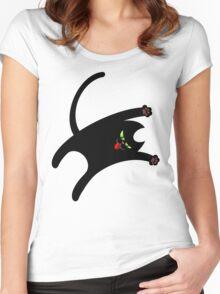 NINJA CAT 1 Women's Fitted Scoop T-Shirt