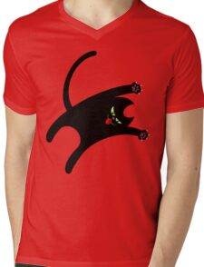 NINJA CAT 1 Mens V-Neck T-Shirt