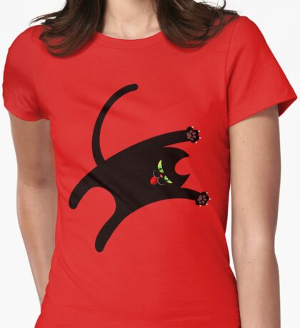 NINJA CAT 1 Womens Fitted T-Shirt