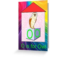 O is for Owl Play Brick Greeting Card