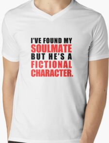 My Soulmate is a Fictional Character Mens V-Neck T-Shirt