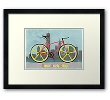 Love New York, Love to Cycle Framed Print