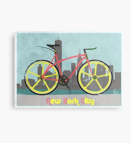 Love New York, Love to Cycle Metal Print
