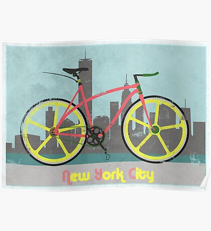 Love New York, Love to Cycle Poster