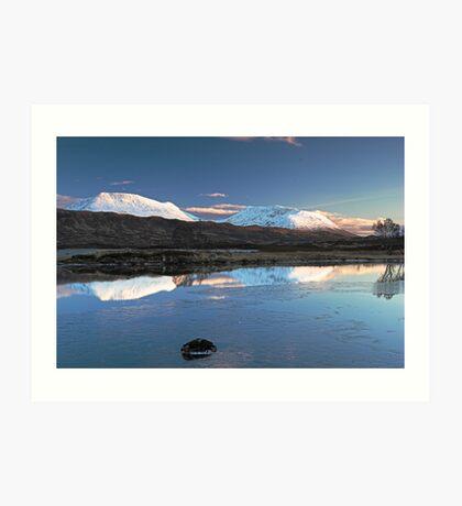 Scotland - Sunset on Rannoch Art Print