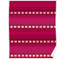 Magenta red stripes - pattern Poster