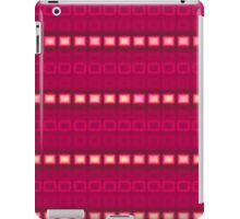 Magenta red stripes - pattern iPad Case/Skin