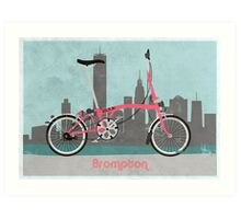 Brompton City Bike Art Print