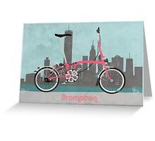 Brompton City Bike Greeting Card