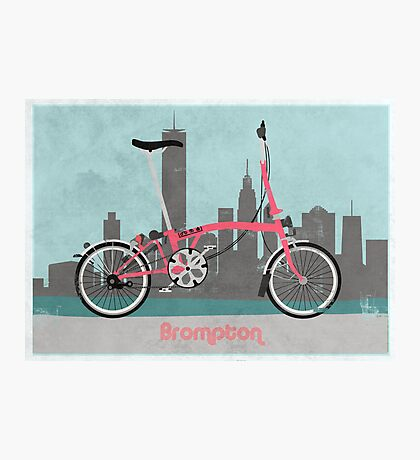 Brompton City Bike Photographic Print