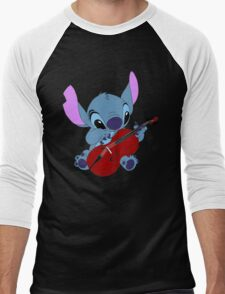 Stitch and a cello - requested  Men's Baseball ¾ T-Shirt