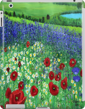 Blooming field Ipad case by maggie326