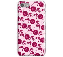 Flowers on pink (retro pattern) iPhone Case/Skin