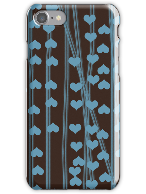 Blue hearts retro design by CatchyLittleArt