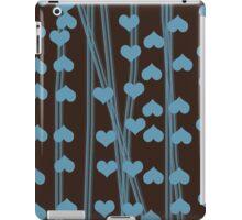 Blue hearts retro design iPad Case/Skin