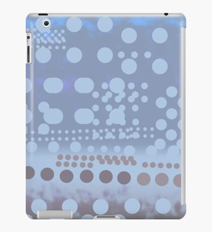 Blue dots dynamic pattern  iPad Case/Skin