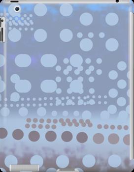 Blue dots dynamic pattern  by CatchyLittleArt