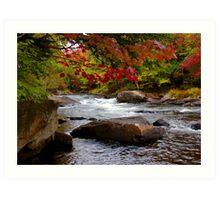 Canada - Fall Colours Ox Tongue River Art Print