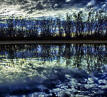 Sunset on the Frog Pond by mdtrudell