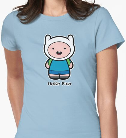 Hello Finn Womens Fitted T-Shirt