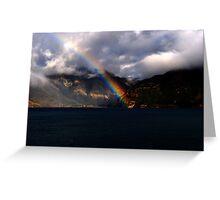 rainbow lake Greeting Card