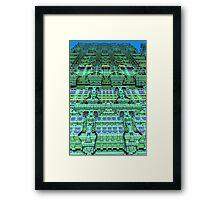 Aliën skyscraper, abstract fractal art Framed Print