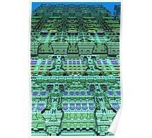 Aliën skyscraper, abstract fractal art Poster