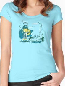 Kaeru the frog Women's Fitted Scoop T-Shirt