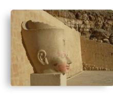 portrait of pharaoh Hatsjepsut Canvas Print