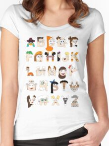 P&F Alphabet Women's Fitted Scoop T-Shirt