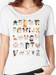 P&F Alphabet Women's Relaxed Fit T-Shirt