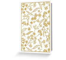 Gum Doodles Orange on White - for cards Greeting Card
