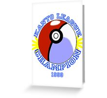 Kanto League Champion Greeting Card