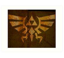 Zelda Wall Mural Poster Triforce War Torn Art Print