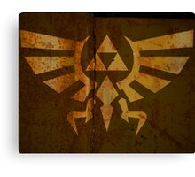 Zelda Wall Mural Poster Triforce War Torn Canvas Print