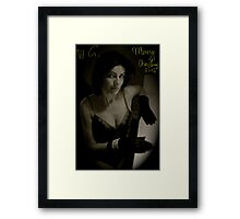 """Black Velveteen - .... """" A Thousand Kisses Deep  """" ......Merry Christmas 2012. by Brown Sugar & Evita KittyCat . Buy what you like ! Framed Print"""